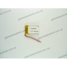 Батарея для GPS 3.7V, 210mAh, 4x20x31mm