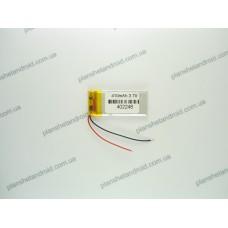 Батарея для GPS 3.7V, 410mAh, 4x24x50mm