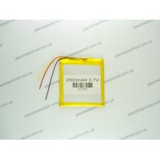 Батарея для планшета 3.7V, 2500mAh, 3.1x70x75mm 3-х контактная