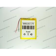Батарея для планшета 3.7V, 3000mAh, 3.2x70x97mm