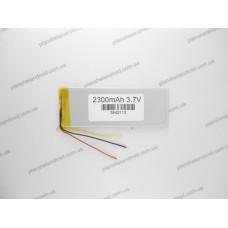 Батарея для электронной книги 3.7V, 2300mAh, 3.3x42x113mm 3-х контактная