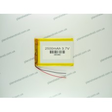 Батарея для планшета 3.7V, 2500mAh, 3.6x59x80mm
