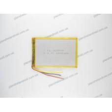 Батарея для планшета 3.7V, 2800mAh, 3.6x59x80mm 3-х контактная