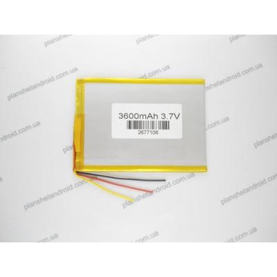 Батарея 3600 mAh 3pin для китайских планшетов Fly, Dex и других