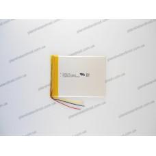 Батарея для планшета 3.7V, 3000mAh, 3.6x66x85mm 3-х контактная