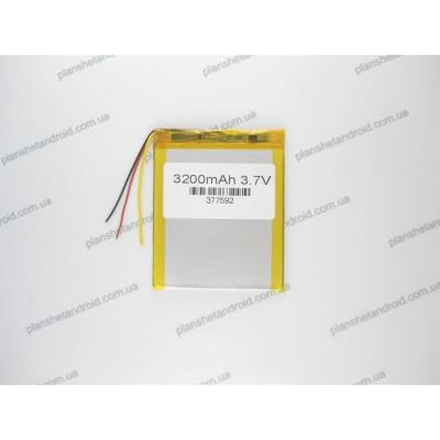 Батарея аккумуляторная 3.7V, 3200mAh, 3.7x75x92mm 3-х контактная