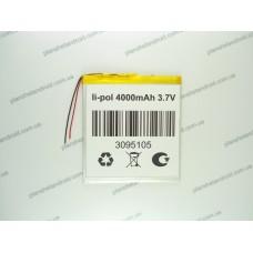 Батарея для планшета 3.7V, 4000mAh, 3.0x95x105mm