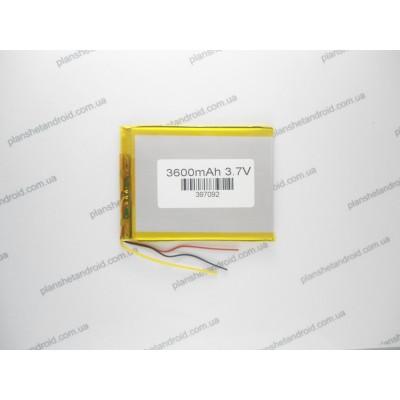 Аккумуляторная батарея 3600 mAh для планшета 3-х контактная