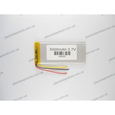 Батарея для планшетов и цифровой аппаратуры 3,7V 3000 mAh 3-х контактная