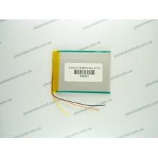 Батарея для планшета 3.7V, 3800mAh, 4.6x66x91mm 3-х контактная