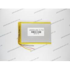 Батарея для планшета 3.7V, 4000mAh, 2.6x79x116mm 3-х контактная