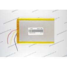 Батарея для планшета 3.7V, 6000mAh, 3.0x100x140mm 3-х контактная
