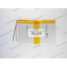 Батарея для планшета 3.7V 6000mAh, 3.6x85x132 mm