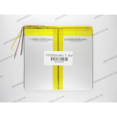"Аккумулятор 10000 мАч для Dex Сube, Pipo, iconBit, Chuwi, Mytab 9,7-10,2"" с напряжением 7,4V"