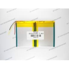 Батарея для планшета  7.4V, 8000mAh, 4.6x90x132mm 3-х контактная