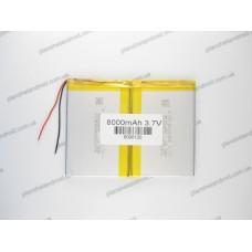 Батарея для планшета 3.7V, 8000mAh, 6 x 90 x 120mm