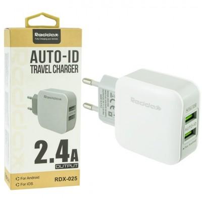 Зарядное для китайского планшета REDAX RDX-021 2 USB CHARGER 2.4A
