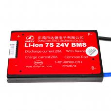 BMS плата Li-ion 24V 7S 20A симметрия