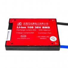 BMS плата Li-ion 36V 10S Dis 30A Ch 20A