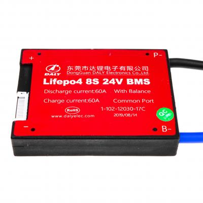 Купить BMS плата Lifepo4 24V 8S 60A симметрия