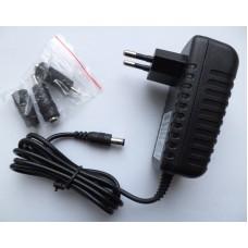 Зарядное сетевое универсальное 12V 2A (2mm, 2.5mm, 3.5mm)
